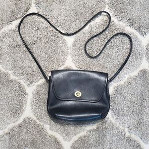 Coach Quincy Black Leather Crossbody Bag 9919